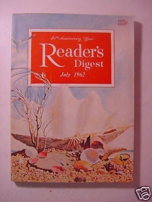 Reader's Digest July 1962 Arnold Palmer John Glenn +++