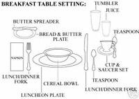 Formal Breakfast Table Setting | New House Designs