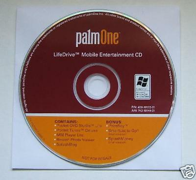PALM  LIFEDRIVE  MOBILE  ENTERTAINMENT  SOFTWARE  CD Mobile Software Entertainment
