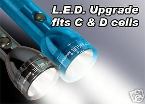MAG LITE LED UPGRADE BULB for C and D CELL FLASHLIGHTS NITE IZE MAG LIGHT NEW