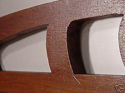 Jugenstil  Arts & Crafts Hand Carved Wood Crown Topper Mantel Molding Antiques 8