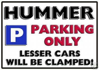 Large Aluminium HUMMER Parking Sign All Models