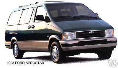 1993 Ford Aerostar Van Green Refri Magnet