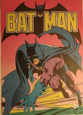 BATMAN Original 1974 Neal Adams Werbeplakat / Poster 59 cm x 42 cm Ehapa