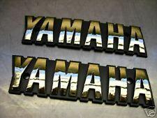 2 TANK EMBLEM BADGES YAMAHA GOLD ODER CHROME XS 850 XS 750 XS 650 XS 400 STICKER